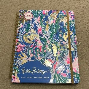 NEW Lilly Pulitzer 17 Month Agenda Jumbo 2019